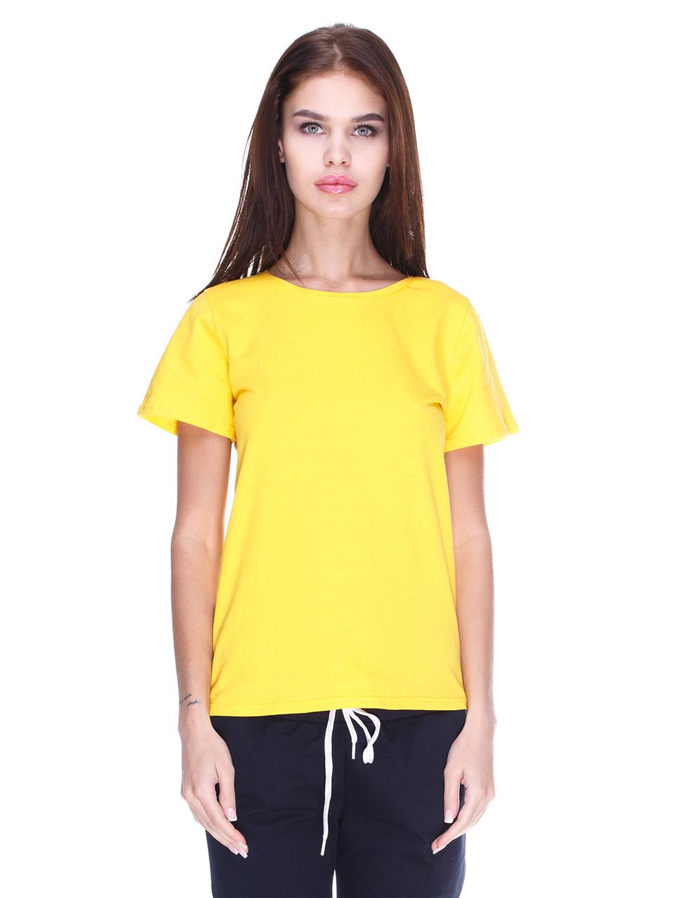 Футболка жіноча, жовта