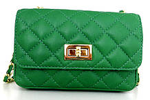 Жіноча сумочка - клатч . Італія 100% натуральна шкіра . Зелена