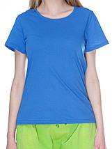Футболка женская, синяя (индиго джинс), фото 2