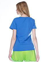 Футболка женская, синяя (индиго джинс), фото 3