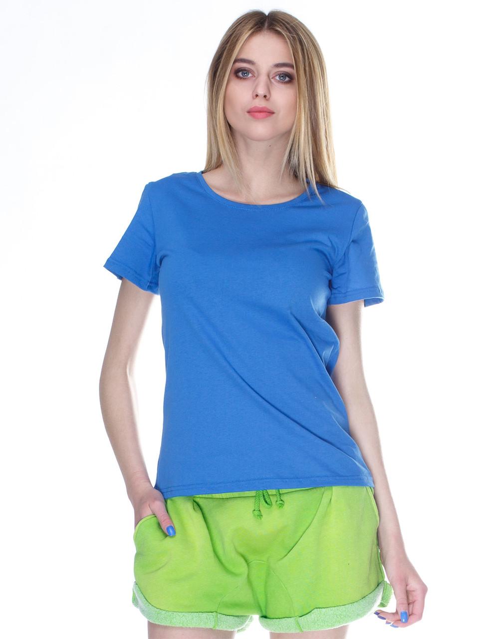 Футболка жіноча, синій (індиго джинс)