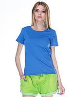 Футболка женская, синяя (индиго джинс)