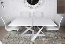Стол Fleetwood ( Флитвуд ) Nicolas, стекло + керамика, белый глянец, фото 3
