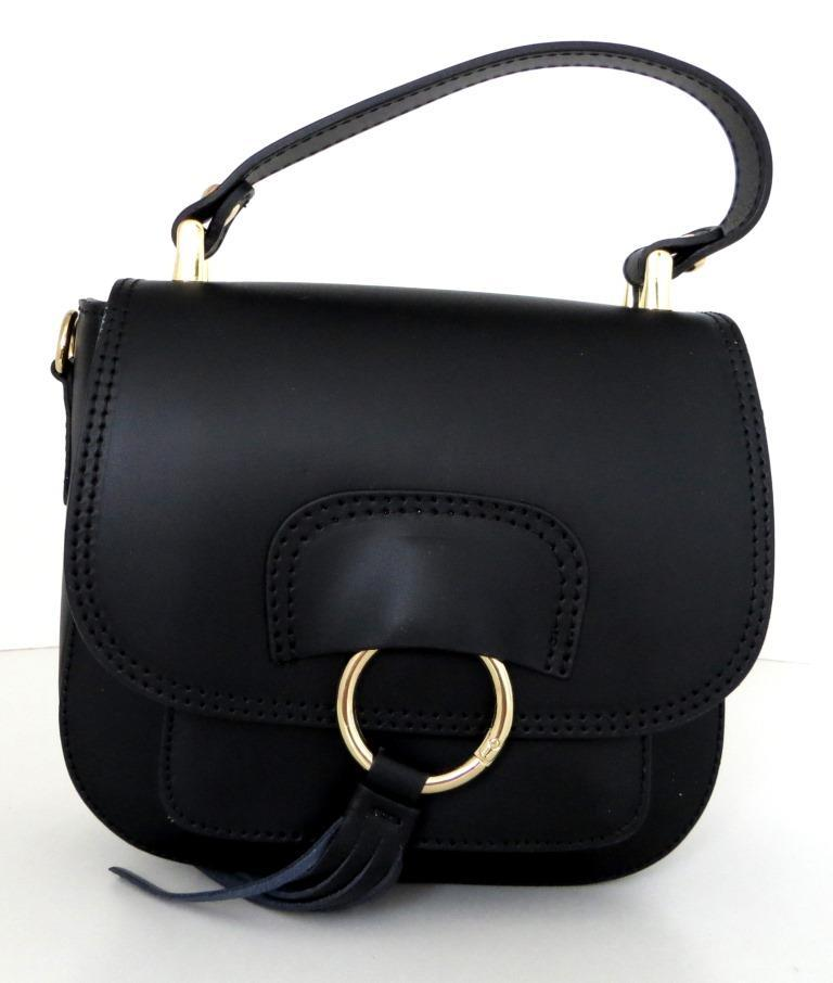 Жіноча сумочка . Італія 100% натуральна шкіра . Чорна, фото 1