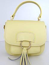 Жіноча сумочка . Італія 100% натуральна шкіра . Жовта