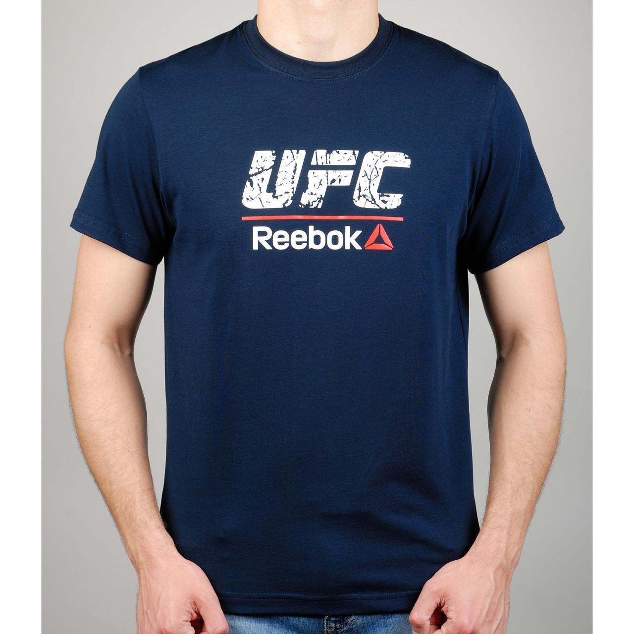Футболка мужская REEBOK UFC 20968 темно-синяя
