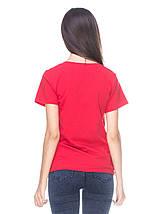 Футболка женская, красная, фото 3
