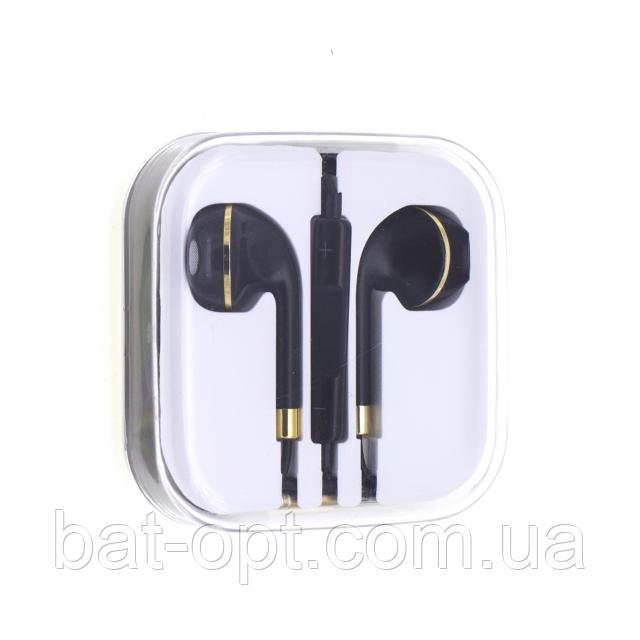 купить гарнитура Hi Fi Iphone 5 Earpod New Line черно золотая оптом