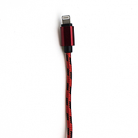 Кабель USB SHOELACES LIGHTNING красный