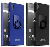Пластиковый чехол Imak с кольцом-подставкой для Sony XA1 (2 цвета)