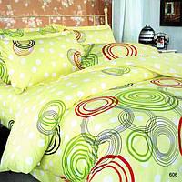 Полуторное постельное белье бязь Цветные круги-606