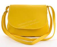 Аккуратная женская стильная сумка почтальонка Габриэлла art. ярко желтая Sg Украина (100080)