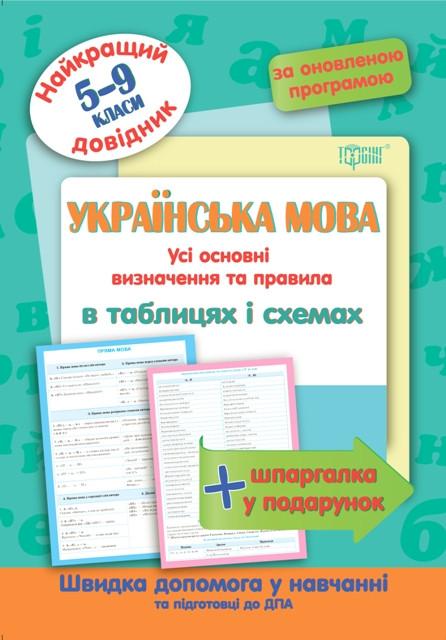 Украинский язык в таблицах и схемах 5-9 классы. Лучший справочник.