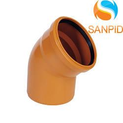 Колено для наружной канализации Wavin 110/30°