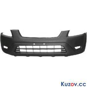 Передний бампер Honda CR-V 04-06 (с отв. п/тум, черн.) (FPS)