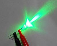 Светодиод 3мм зеленый 30гр
