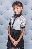 Блуза школьная с воротником