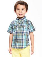 Детская клетчатая рубашка с коротким рукавом Old Navy для мальчика