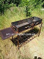 """Кованый мангал """"Шашлычный метр"""" со столиком"""