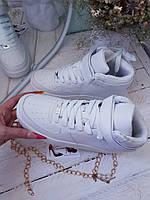 Белые мужские кроссовки  Найк аир форс(копия,реплика)