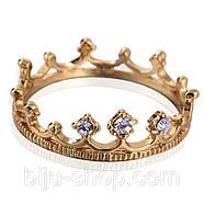 Кольцо Корона, позолота 14К, фото 2