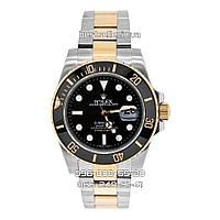 Часы Rolex Submariner (Механика) black/silver/gold. Replica: AAA., фото 1