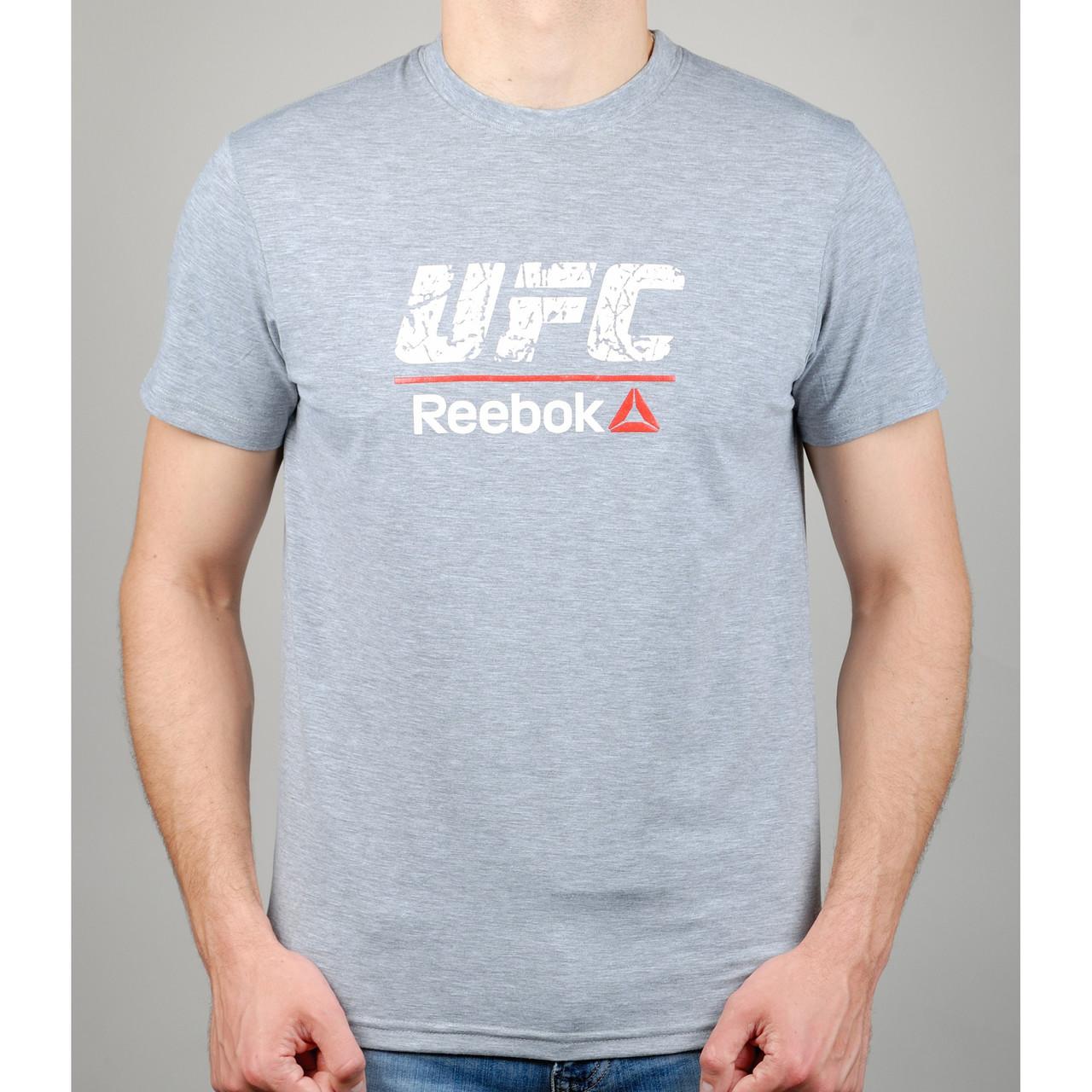 Футболка мужская REEBOK UFC 20972 светло-серая
