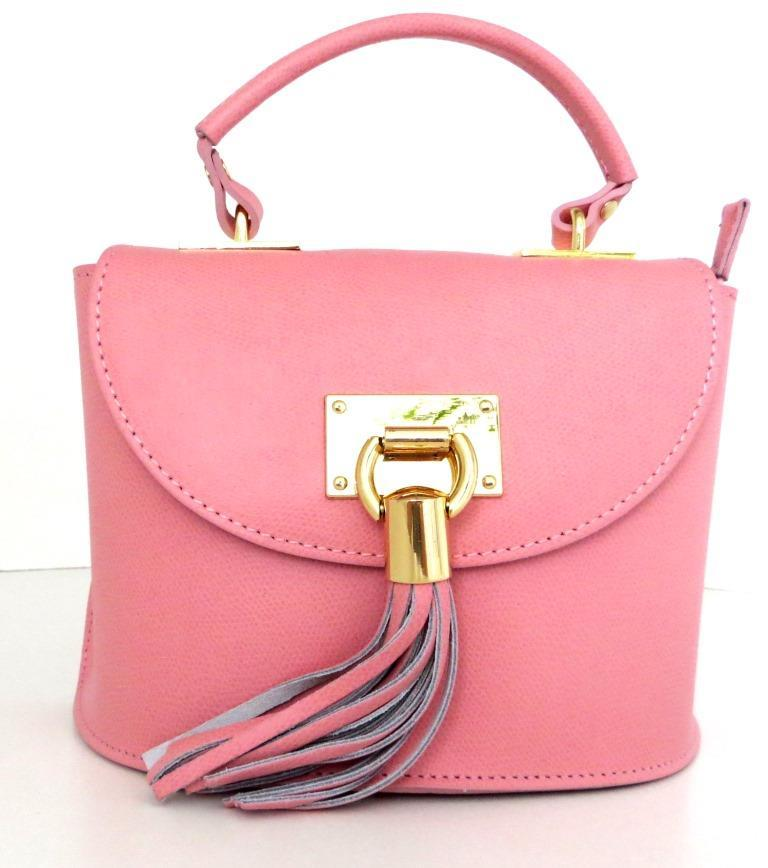 Жіноча маленька сумочка . Італія 100% натуральна шкіра . Рожева ... 40cc4eb121e7b