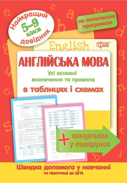 Английский язык в таблицах и схемах 6-9 классы. Лучший справочник.
