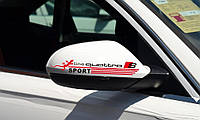 Наклейка:  S-line quattro на зеркала - черная