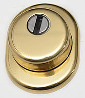 Защитная броненакладка врезная Azzi fausto Antidrill  (H-25 мм) золото  (Италия)