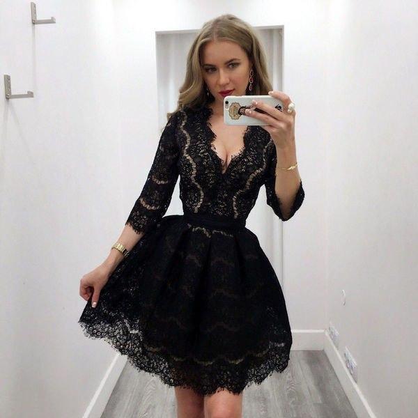 2bdbe46456b36c4 Короткое гипюровое платье с глубоким вырезом декольте, цена 940 грн.,  купить в Харькове — Prom.ua (ID#559302000)