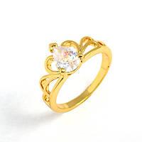 Кольцо Корона Лайт, позолота 14К