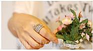 Кольцо Корона Винтаж, 2 шт. посеребрение, фото 4