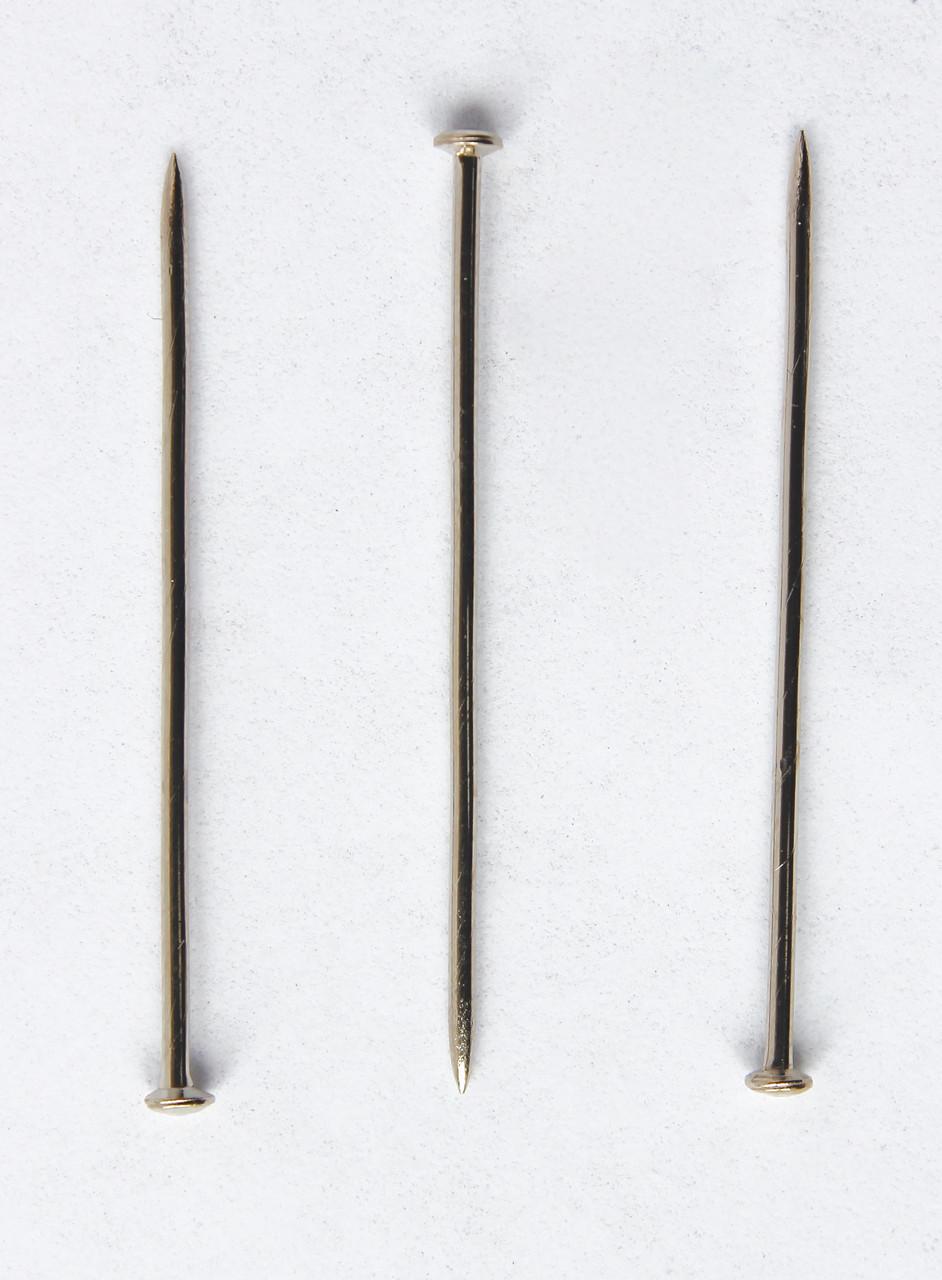 Булавки швейные портновские №109 38х1,05 мм. 50 штук. Серебро. PRYM