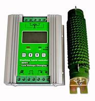 Гибридный контроллер MPPT (ветер+солнце)  24 В 600 Вт (300 Вт ветер, 300 Вт солнце), с защитным отключением нагрузки
