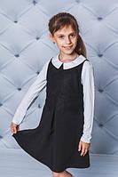 Платье школьное для девочки черное
