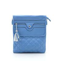 Стильный модный оригинальный клатч, голубой