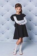 Школьное платье с бантом
