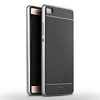 Чехол накладка IPAKY TPU + бампер PC для Huawei P8 серебристый