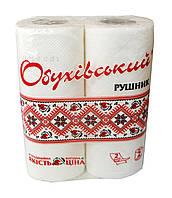 Бумажные полотенца Обуховский Вышиванка белые (2 слоя, 38 листов) - 2 рулона