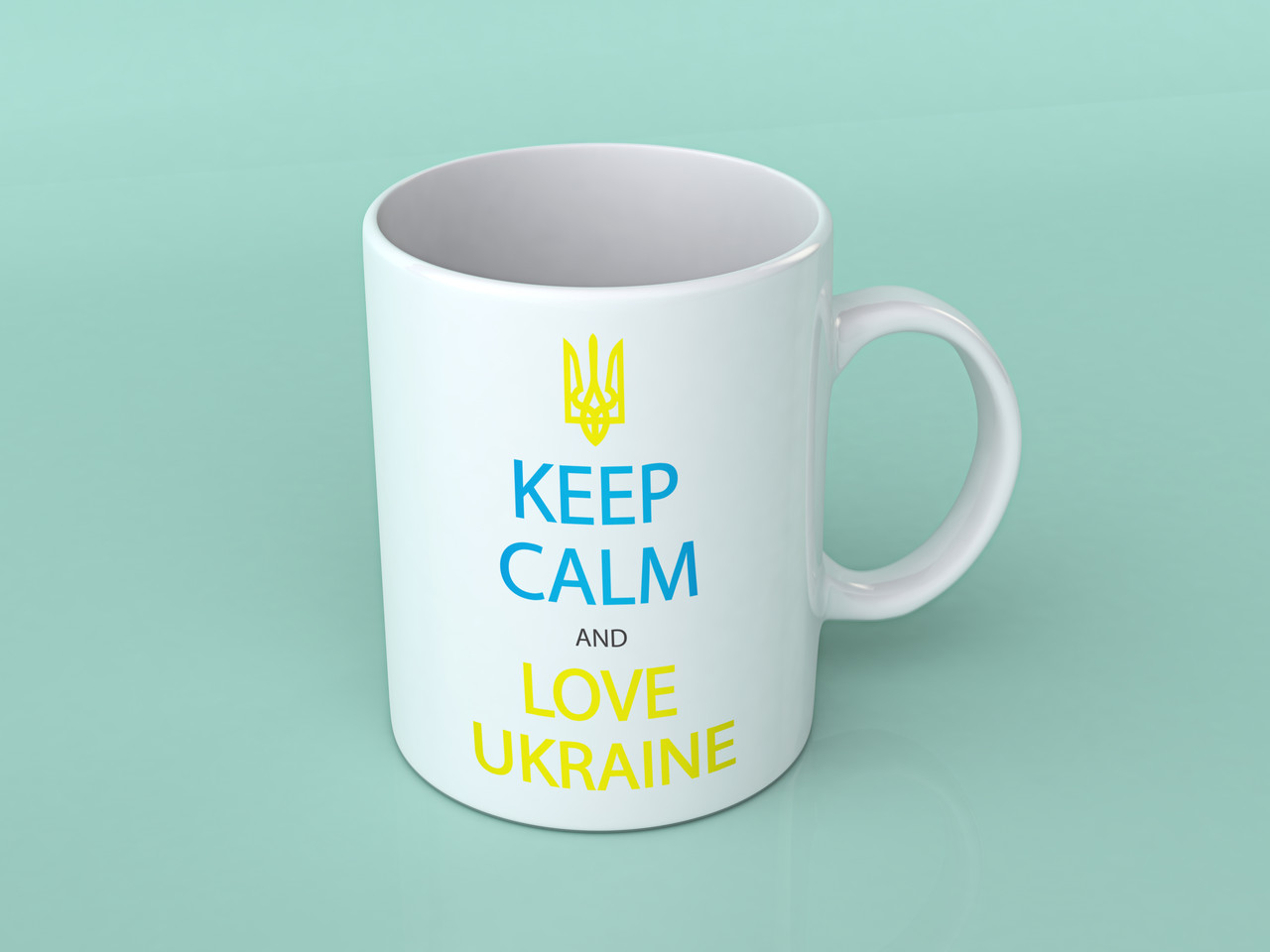 "Кружка ""Keep calm and love Ukraine"""