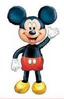"""Шар фольгированный фигурный """"Микки Маус"""" с ножками. Размер 80 см"""