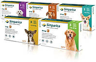 Simparica (Симпарика) Таблетки от блох и клещей для собак весом от 2,5 до 5 кг (3шт)