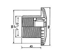 Бокова форсунка під плитку, сопло 22 мм, фото 1