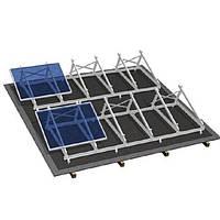 Система крепления солнечных батарей на плоскую крышу (на 12 панелей)