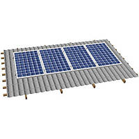 Система крепления солнечных батарей на скатную крышу (на 4 панели), фото 1