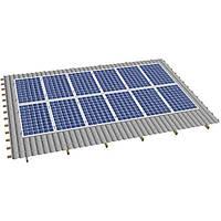 Система крепления солнечных батарей на скатную крышу (на 12 панелей)
