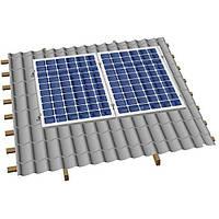 Система крепления солнечных батарей на скатную крышу (на 2 панели)