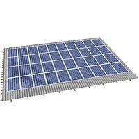 Система крепления солнечных батарей на скатную крышу (на 40 панелей)